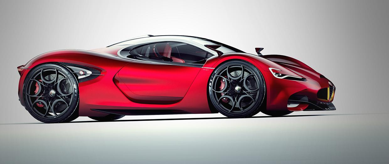 Designer S Proposal For An Alfa Romeo Super Car Motory Saudi Arabia